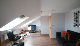 Image of the interior of a loft conversion