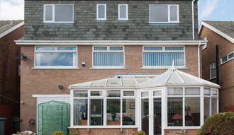 Image of a home extension taken from the back garden of a property
