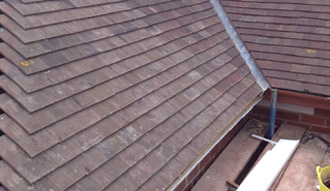 An arial shot of a property roof