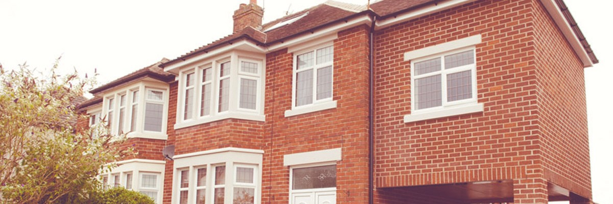 A picture showing the front outside view of a new home extension in Poulton-le-Fylde