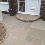 A picture showing the new driveway of a home renovation in Blackpool