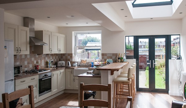 A full view of a Blackpool home extension