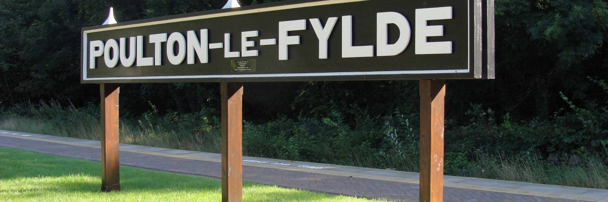 A picture of the Poulton Le Fylde railway sign