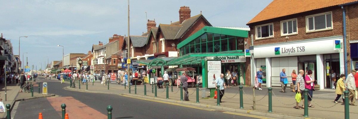 A picture of the Thornton Cleveleys high street