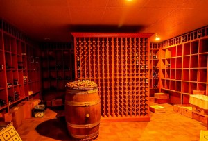 A picture showing a stunning quality wine cellar in a Blackpool basement conversion