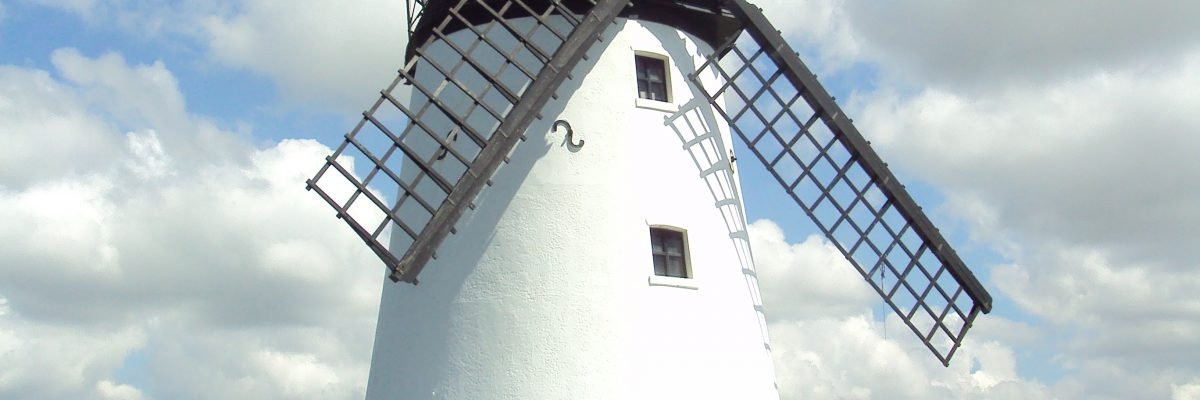A picture of the windmill located in Lytham, one of the areas served by builders Keystone Construction
